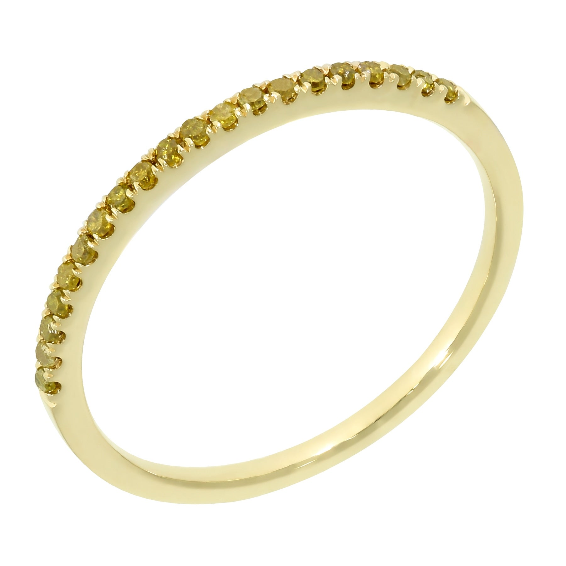 Prism Jewel 0.15Ct Yellow Diamond Anniversary Band - Thumbnail 0