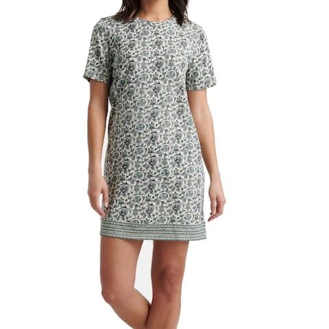 Lucky Brand Womens T-Shirt Dress Green Size Medium M Floral Print