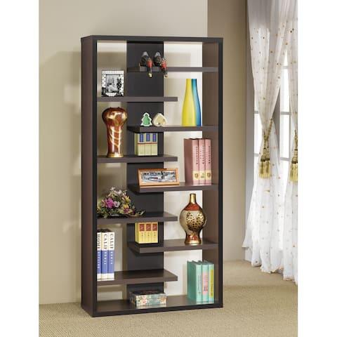 Corin Cappuccino 8 Staggered Shelves Bookcase