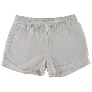 Joe Fresh Womens Linen Cuffed Casual Shorts - 6