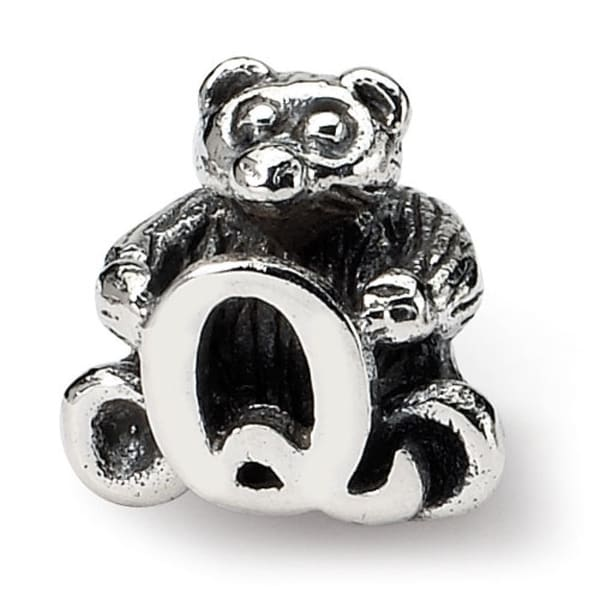 Sterling Silver Reflections Kids Letter Q Bead (4mm Diameter Hole)