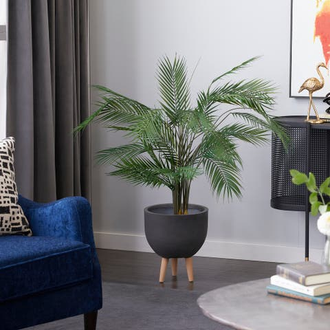 "Artificial Kwai Muk Plant Decorative Foliage 53"" Green - 32X28X53"