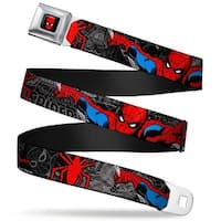 Marvel Comics Spider Man Full Color Spider Man In Action W Spider Logo Seatbelt Belt