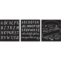 Folkart Stencil Lily & Val 3/Pkg-Mixed Fonts