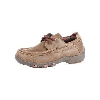 Roper Western Shoes Boys Lil Henry Leather Tan 09-018-1784-2052 TA