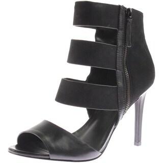 Charles David Womens Itano Leather Suede Heels - 8 medium (b,m)