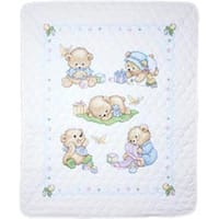 """34""""X43"""" - Baby Bears Quilt Stamped Cross Stitch Kit"""
