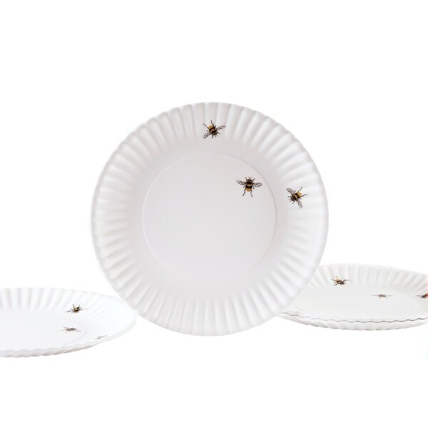 Melamine Bee Plates - 9  - Look just like Paper Plates - Set ...  sc 1 st  Overstock.com : bee tableware - Pezcame.Com