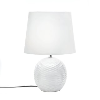 Round White Table Lamp