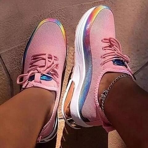 Color Breathable Walking Sneaker