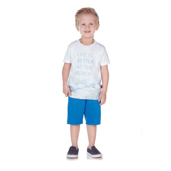 Pulla Bulla Toddler Boy Beach Graphic Tee Short Sleeve Shirt