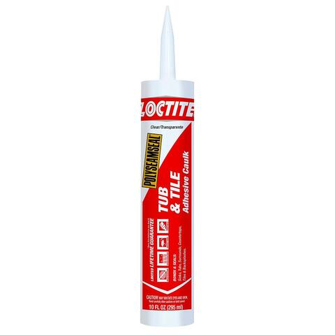 Loctite 2137997 Polyseamseal Tub & Tile Adhesive Caulk, Clear, 10 Oz