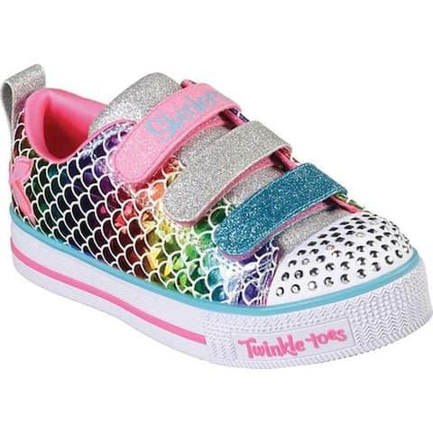Skechers Girls' Twinkle Toes Twinkle Lite Sparkle Scales Sneaker Multi