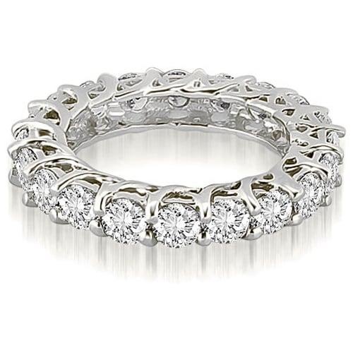14K White Gold 4.00 cttw. Round Diamond Eternity Ring HI,SI1-2