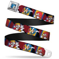 Sonic Classic Sonic Standing Pose Full Color Black Blue Sonic Knuckles Seatbelt Belt