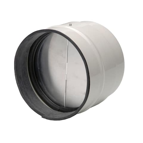 """Soler and Palau MCA-250 10""""/250MM TD Direct Connection Inline Backdraft Damper - - Metal w/Off-White Epoxy Coating"""