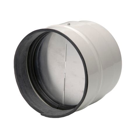 """Soler and Palau MCA-315 12.4""""/315MM TD Direct Connection Inline Backdraft Damper - - Metal w/Off-White Epoxy Coating"""