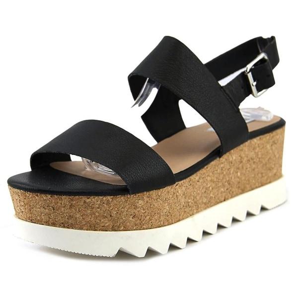 a49b526f31d5 Shop Steve Madden Krista Women Open Toe Leather Black Platform ...