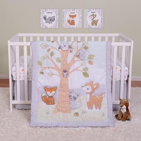Friendly Forest 4 Piece Crib Bedding Set