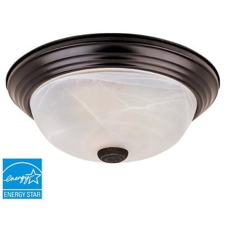 Designers Fountain ES1257L Large Three Light Flushmount Ceiling Fixture with Twist-Lock Glass from the Lunar ES Collection