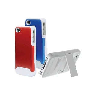 Scosche Polycarbonate case w/ interchangeable backs for Apple iPhone 4/4s - Red