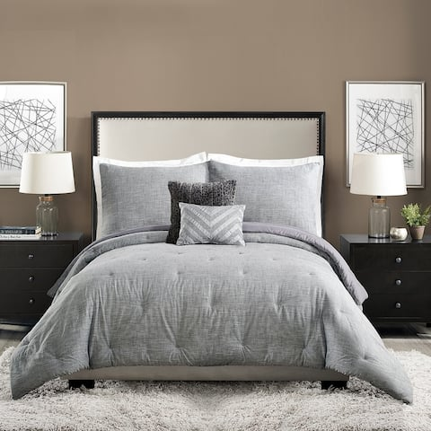 Ayesha Curry Strie Texture 5 Pieces Comforter Set