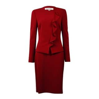 Tahari Women's NYC Glamour Ruffled Skirt Suit (16P, Merlot Red)|https://ak1.ostkcdn.com/images/products/is/images/direct/0abbbe220356e7dd37f1fe65aefef0cfeb27ec42/Tahari-Women%27s-NYC-Glamour-Ruffled-Skirt-Suit-%2816P%2C-Merlot-Red%29.jpg?impolicy=medium