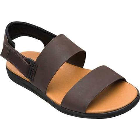 Camper Men's Spray Sandal Dark Brown Full Grain Leather/Nylon