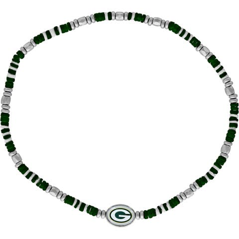 Green Bay Packers Green Shell Bead Necklace - Multi