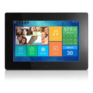 "Aluratek Awdmpf110f 10"" Wifi Digital Photo Frame W/ Touchscreen Ips Lcd Display"