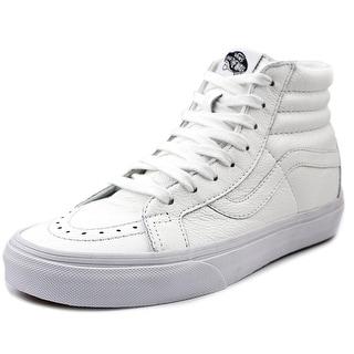 Vans Sk8-Hi Reissue Men Round Toe Leather White Sneakers
