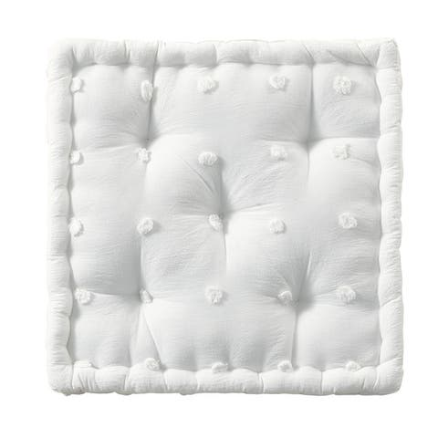 Urban Habitat Maize Cotton Jacquard Square Floor Pillow Cushion