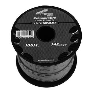 Audiopipe 14 Gauge 100Ft Primary Wire Black|https://ak1.ostkcdn.com/images/products/is/images/direct/0abde89741282b277b01fd76351e6e9a5dfdda2b/Audiopipe-14-Gauge-100Ft-Primary-Wire-Black.jpg?impolicy=medium