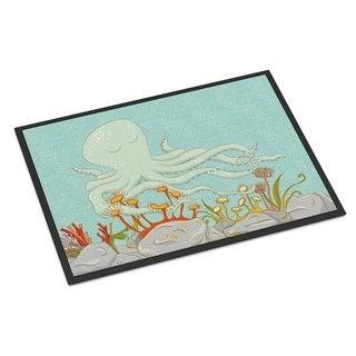 Carolines Treasures BB8538MAT Octopus Underwater Scene Indoor or Outdoor Mat - 18 x 27 in.