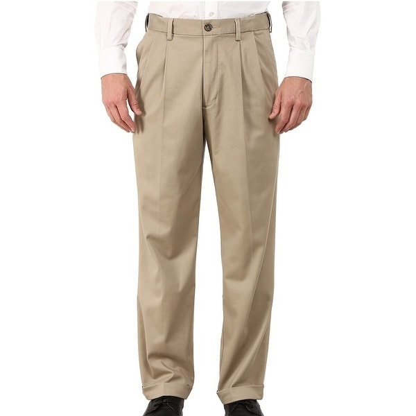 Dockers Mens Comfort Khaki Pants Beige 38x34 Relaxed Fit Pleated Front. Opens flyout.