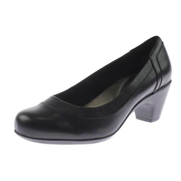 Easy Spirit Womens Carmela Dress Heels Leather Round Toe - 9 extra wide (e+, ww)