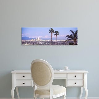 Easy Art Prints Panoramic Images's 'Cityscape, Los Angeles, California, USA' Premium Canvas Art
