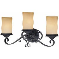"Volume Lighting V4583 Sevilla 3-Light 22.75"" Width Bathroom Vanity Light - antique iron"