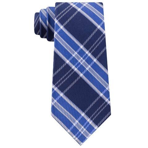 Tommy Hilfiger Men's Vincent Plaid Tie Navy Size Regular