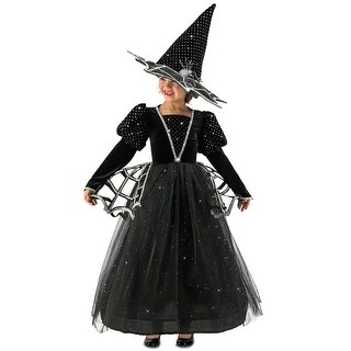 Girls Diamond Witch Glitter Halloween Costume