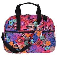 Vera Bradley Floral Fiesta Print Cotton Medium Traveler Weekender Bag
