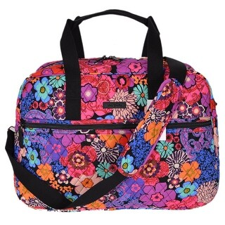 Vera Bradley Floral Fiesta Print Cotton Medium Traveler Weekender Bag