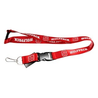 NC State Wolfpack Clip Lanyard Keychain Id Ticket - Red