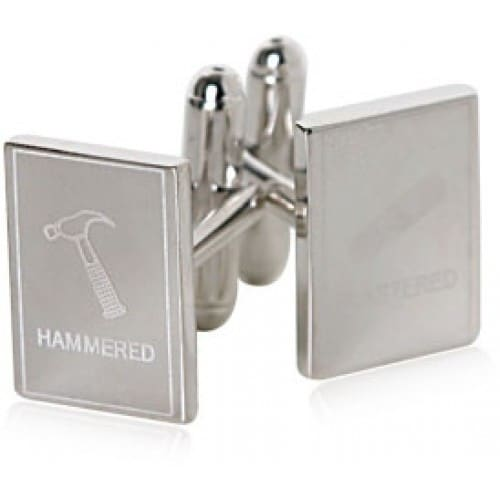 Hammered And Plastered Drunk Wasted Drinking Cufflinks