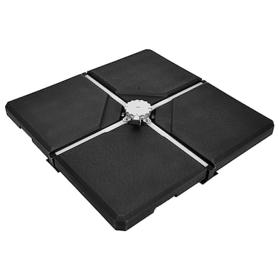Square Cantilever Offset Umbrella Weights Base Water/Sand Filled
