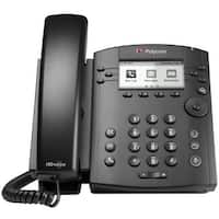 Polycom 2200-48300-025 VVX 301 Corded Business Media Phone System 6 Line PoE-AC Adapter Excluded