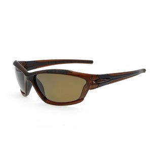 Eyekepper Polycarbonate Polarized Sport Sunglasses Running Fishing Driving TR90 Unbreakable Brown Frame Brown Lens