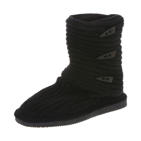Bearpaw Casual Boots Womens Knit Tall Three Toggle Detail