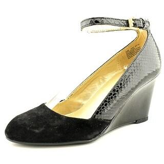 Bandolino Topical Women Open Toe Synthetic Black Wedge Heel