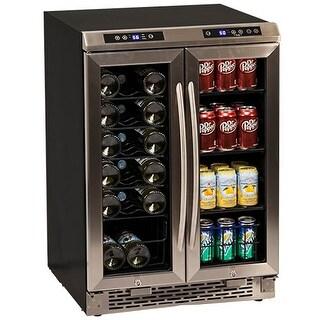 Avanti WBV19DZ 24 Inch Wide Built-In French Door Wine and Beverage Cooler